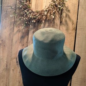 Liz Claiborne Villager Hat green beach sun new